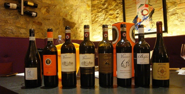Piccini Wines Tasting Lineup