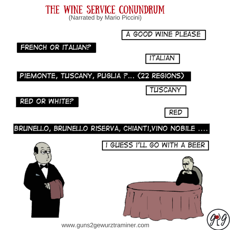 A typical wine service conundrum